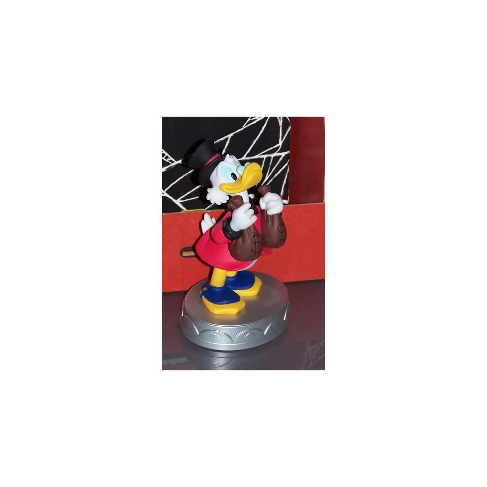 Disney Mickey Mouse   DAGOBERT DUCK Kunststoff Figur auf Sockel, ca