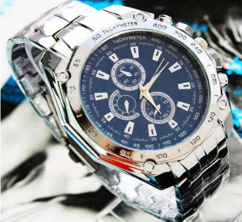 Bestim Inc Fashion Gentle Mens Stainless Steel Quartz Analog Hand Sport Wrist Watch