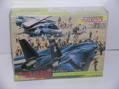 "Shanghai Dragon ""F-14A Tomcat ""Black Bunny"" Plastic Model Kit - 1"