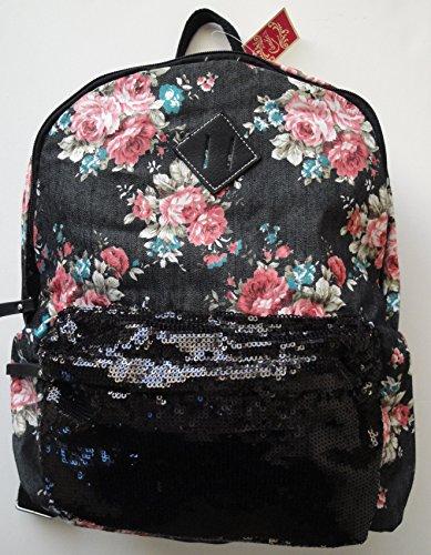 Candie's Black Floral Backpack - 1