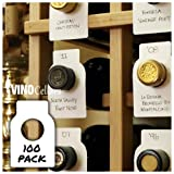 100 Pack Wine Cellar Bottle Tags - Use Both Sides!