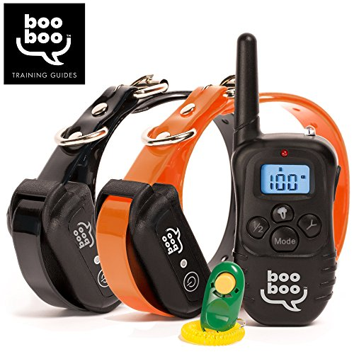 Sit Boo-Boo 2-Collar Remote Dog Training Collar with BONUS eBOOK - All Size Dogs (10Lbs - 100Lbs) - Rechargeable - Waterproof - 990 Feet Range (Dog Training Collars For 2 Dogs compare prices)