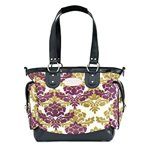 jj cole norah diaper bag boysenberry fleur discontinued by manufacturer diaper. Black Bedroom Furniture Sets. Home Design Ideas