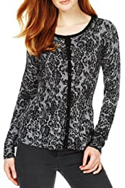M&S Collection Floral Lace Peplum Cardigan [T38-2864-S]
