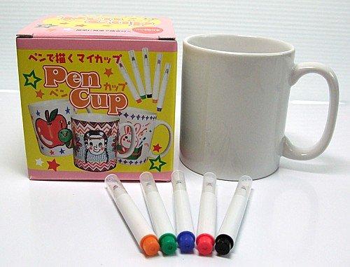 お絵かきペンカップ【ペンで描ける塗り直せる初心者向け簡単マグカップ工作