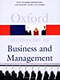 A Dictionary of Business and Management (0192806483) by Pallister, John