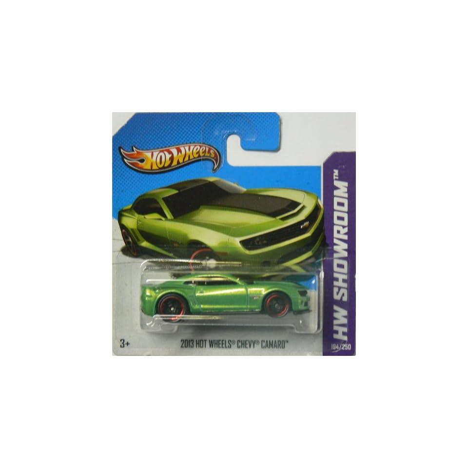Hot Wheels HW Showroom 194/250 2013 Hot Wheels Chevy Camaro on Short Card