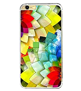 Multi Colour Flowers 2D Hard Polycarbonate Designer Back Case Cover for Apple iPhone 6s Plus :: Apple iPhone 6s+