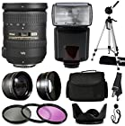 Nikon 18-200mm f/3.5-5.6G AF-S ED VR II Nikkor Telephoto Zoom Lens 2192 with Deluxe Accessories Package includes 2.2x Telephoto Adapter + 0.43x Wide Angle Fisheye Adapter + Flash + Tripod + Large Padded Case + 3 Piece Filter Kit + Tulip Lens Hood + Cleaning Kit + $50 Gift Card for Prints for Nikon DF D7200 D7100 D7000 D5500 D5300 D5200 D5100 D5000 D3300 D3200 D3100 D3000 D300S D90 D60 DSLR SLR Digital Camera