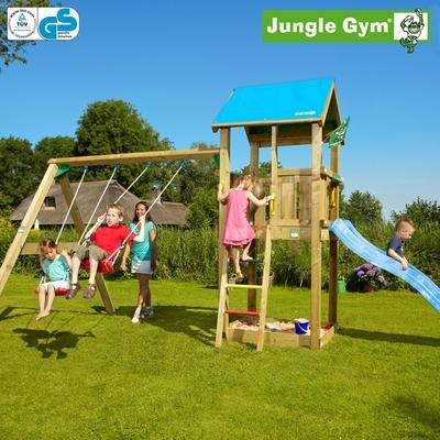 Jungle Gym Kiras CASTLE - Spielturm Set mit Schaukel und Rutsche - Grün