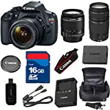 Top Value Bundle For T5 Digital SLR Camera with EF-S 18-55mm f/3.5-5.6 IS Lens + 75-300mm III Zoom + High Speed 16GB Memory Card + High Speed Reader + Deluxe Case + 6pc Bundle
