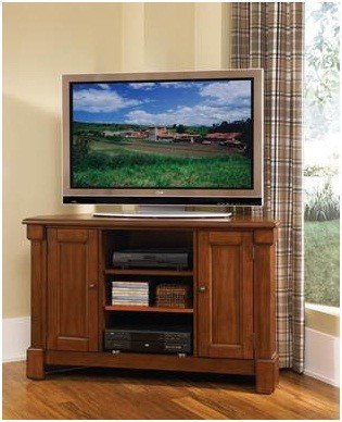 Cheap Corner TV Stand Rustic Style in Cherry Finish (VF_HY-5520-07)