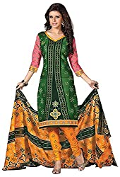 Mansi Fashion Women's Cotton Dress Material (MF-MP-2007 , Green)