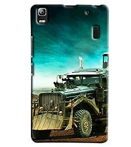 Clarks Military Vehicle Hard Plastic Printed Back Cover Case For Lenovo K3 Note