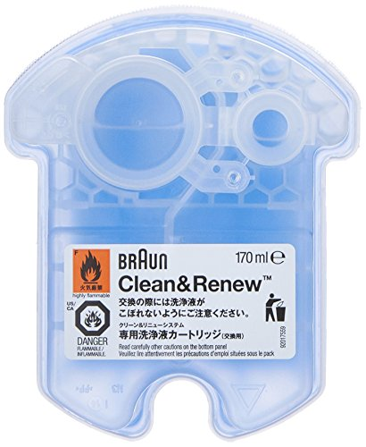 Braun Clean and Renew 4 Pack, Cartridge, Refill, Replacement Cleaner, Cleaning Solution (Braun Razor Clean And Renew compare prices)