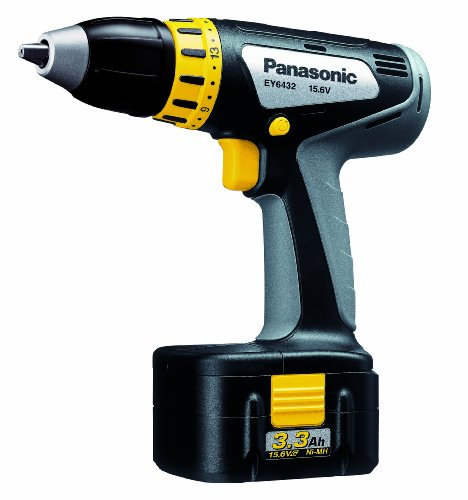 Panasonic EY6432GQKW 15.6-Volt 3.3Ah NiMH 1/2-Inch Cordless Drill/Driver Kit