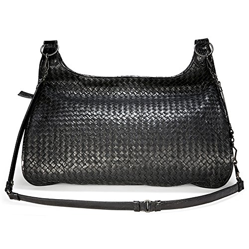 Bottega Veneta Woven Black Leather Extra Large Shoulder Bag