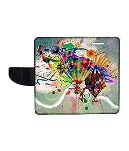 KolorEdge Printed Flip Cover For Samsung Galaxy J1 Multicolor - (1476-45KeMLogo11315SamJ1)