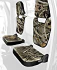 Coverking Rear Jump Seat Custom Fit Seat Cover for Select Ford Ranger Models  - Neosupreme (Realtree Max-4 Camo with Black Sides)