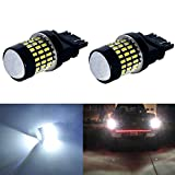 JDM ASTAR Super Bright 78-EX Chipsets 3056 3156 3057 3157 LED Bulbs with Projector,Xenon White