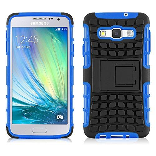 Cover Galaxy A5, JAMMYLIZARD Custodia Heavy Duty ALLIGATOR in Silicone TPU e Polimero per Samsung Galaxy A5 (2014), BLU