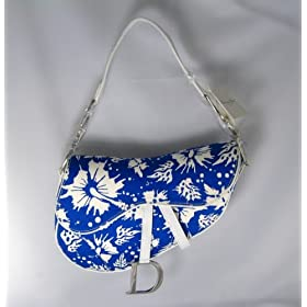 Dior Handbags (Blue/White) Surf Print Saddle Bag SFJ44001