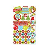 10 Sheets of 50 ( Total 500 ) Christmas Sticker Kids Childrens Labels for party Loot bags Filler Favours scrap books card making or notebook decoration Art Craft