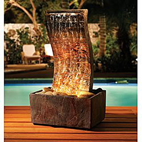 Order Home Collection Curvy Slate Tower Fountain