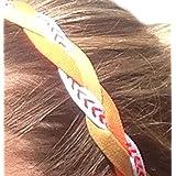 It S Ridic No Slip Grip Non-Slip Sports Athletic Nylon Triple Braided Sports Headband Gold | Orange | White With...