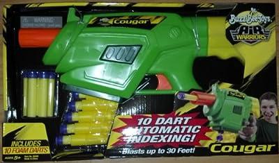 Buzz Bee Toys Air Warriors Cougar Nerf Foam Dart Blaster 0024868895