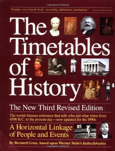 The Timetables of History: A Horizontal Linkage of People and Events: Bernard Grun: 9780671742713: Amazon.com: Books