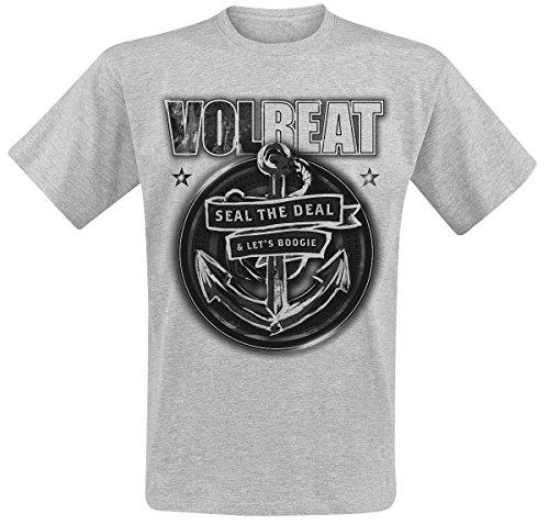 Volbeat Anchor T-Shirt grigio sport L