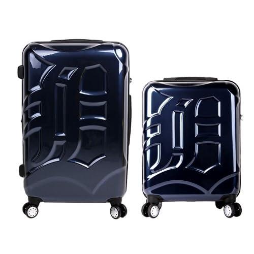 [MLB公認ライセンスLOGO商品]メジャーリーガー気分を味わえる!Detroit Tigersデトロイト・タイガース・キャリーケース[20インチ+27インチセット][ブルー]