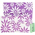 Lunchskins2 Multi-Pack Reusable Sandwich and Snack Bag, Purple/White Flower, Set of 2