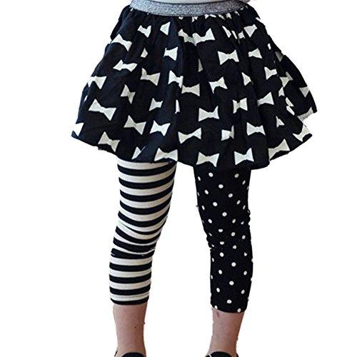 Urparcel Girls Leggings Pants Polka Dot Striped Tights Skinny Trousers 1-8y