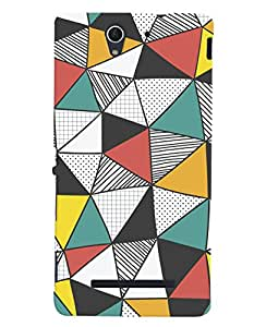 ColourCrust Sony Xperia C3 / Dual Sim Mobile Phone Back Cover With Abstract Style Modern Art - Durable Matte Finish Hard Plastic Slim Case
