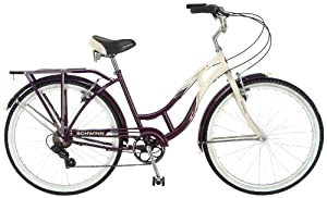 Schwinn Women's Sanctuary 7-Speed Cruiser Bicycle , Cream/Purple