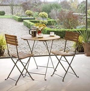 roma 2 seater bistro set garden furniture