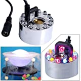 Mist Maker Fogger Replacement Mister Water Fountain Pond 12 LED Lights