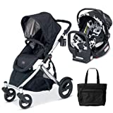 Britax U281772KIT3 B-Ready Stroller and Chaperone Infant Carrier with Diaper Bag - Cowmooflage Black
