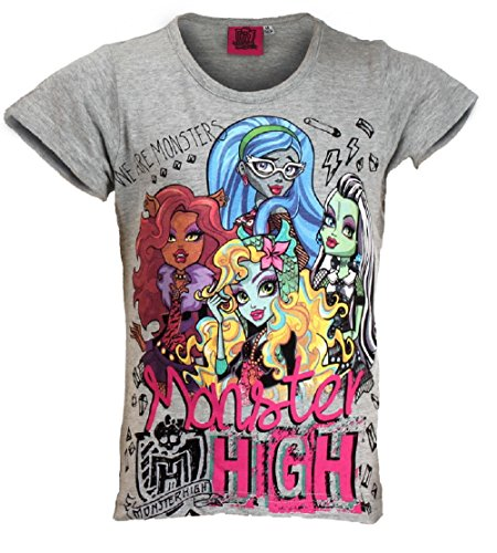 Official Monster High Girls Printed Short Sleeve Top Age 6,7,8,9,10,12 Years