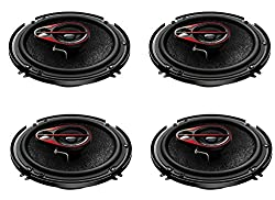 Pioneer TS-R1650D 250W 6 Inch Shallow Mount 3-Way Car Speaker (Pack of 4)