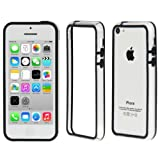 Ownstyle4you Protective Silicone TPU Case Skin Cover for Apple iPhone 5c incl. Screenguard Bumper in Transparent