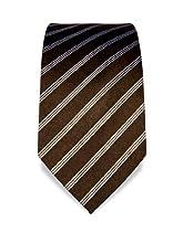 VB Tie - dark brown, white - striped