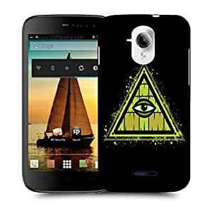 Snoogg Triangle Eye Designer Protective Back Case Cover For MICROMAX A117