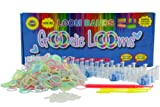 GOODIE LOOMS-Rainbow color Loom Bands Kit-Glow in the Dark Bracelet Making Loom Bands Kit - **The Only Kit with 1 Large Hook, 2 Mini Hooks, 600+ Glow In The Dark Rubber Bands, 48 S-Clips, Adjustable Loom & Extra Brackets- 100% Satisfaction Guarantee