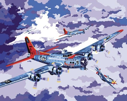 Plaid 21717 Paint By Number Kit, B-17 Bomber, 16-Inch by 20-Inch