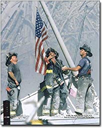 New York Firefighters Raising Flag at Ground Zero 9/11 11x14 Silver Halide Photo Print