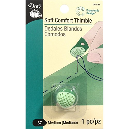 Best Deals! Dritz 204-M Soft Comfort Thimble, Medium, Green