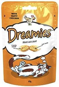 Dreamies Cat Treats Chicken 60g (Pack of 8)